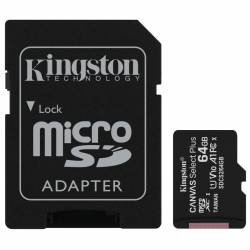 Memoria MicroSD+SD 64 Gb Clase10 Kingston