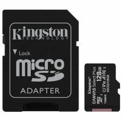 Memoria MicroSD+SD 128 Gb Clase10 Kingston