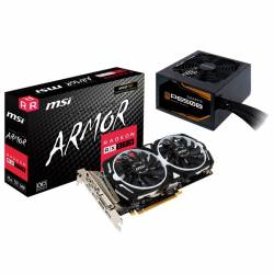 Kit Radeon RX570 8Gb Msi Oc + Fuente Thermaltake 650 W Bronze #