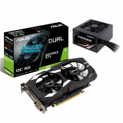 Kit GeForce GTX 1650 4Gb Asus + Fuente Thermaltake 500 W Bronze #