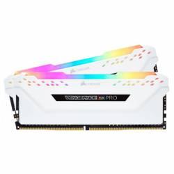 Memoria Ram DDR4 - 16Gb 2x8 3000 Mhz Corsair Vengeance Rgb Pro Blanco