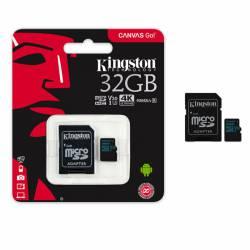 Memoria MicroSD+SD 32 Gb Canvas Go! Kingston