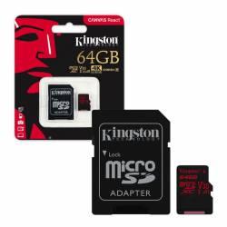 Memoria MicroSD+SD 64 Gb Canvas React Kingston