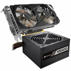 Kit GeForce GTX 2060 6 Gb + Fuente Corsair 600 W 80p #