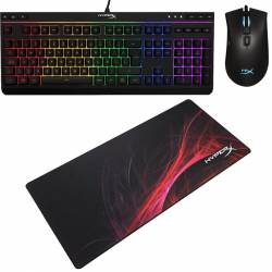 Kit Gamer HyperX Teclado Rgb + Mouse + Pad Mouse Extra Large #