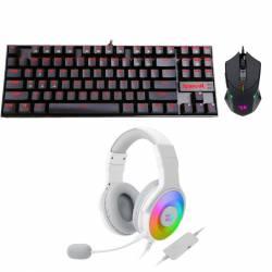 Kit Gamer Redragon Teclado + Mouse + Auricular #