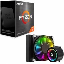 Procesador Amd Ryzen 7 5800X 4.7 Ghz + Watercooler Asus #