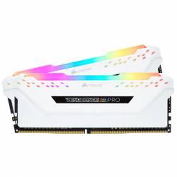 Memoria Ram DDR4 - 16Gb 2x8 2666 Mhz Corsair Vengeance Rgb Pro Blanco